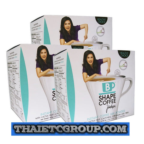 B Shape Weight Loss No Sugar Coffee By Jintara Cactus Fruit Chromium Fiber x 3