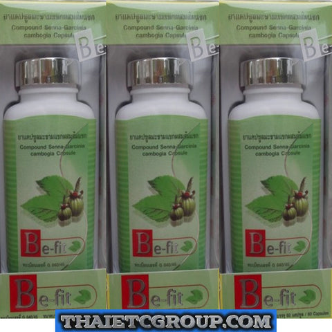 3 Be fit Senna Garcinia Cambogia Slimming Weight loss diet Natural Laxative pill