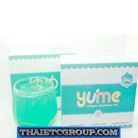 YUME PLUS COLLAGEN DRINK 20000 mg HEALTHY WHITE SKIN WHITENING LIGHTENING AURA