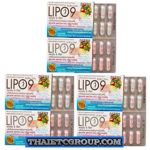 3 BURN SLIM LIPO 9 Dietary Supplement Natural Weight Loss Pills Detox High Fiber