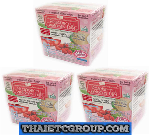 3 box Raspberry Ketones Diet Block Burn Boost Anti aging anti Oxidant green tea