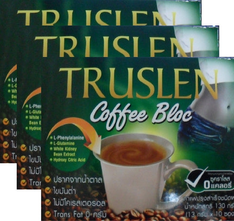 3 TRUSLEN Bloc Slimming Coffee weight management Sucralose no calories drink