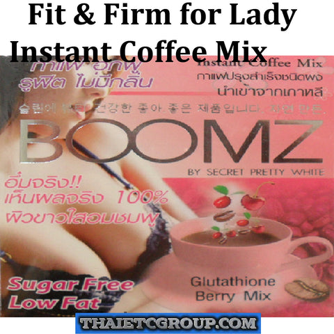 BOOMZ Instant coffee Drink Glutathione Berry mix Fit & Firm Breast Korea Made