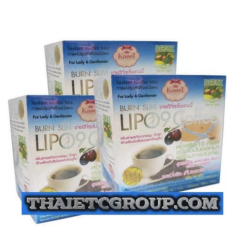 3 box LIPO 9 INSTANT DIET SLIMMING COFFEE Weight loss Fat Burn Lose weight DETOX