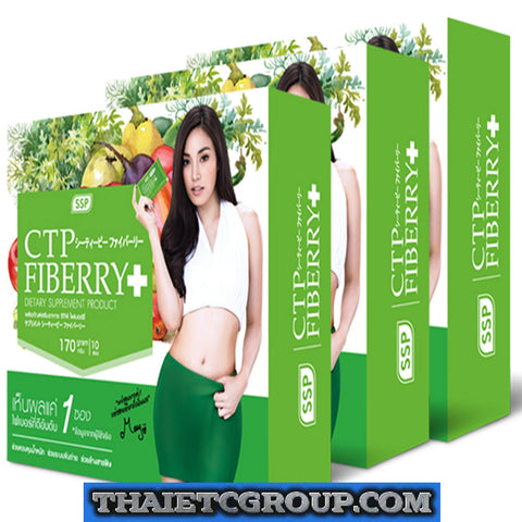 3 BOX CTP Fiberry DETOX Lose Weight Loss Dietary Supplement DRINK Diet Garcinia