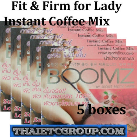5 BOOMZ Instant coffee Drink Glutathione Berry mix Fit & Firm Breast Bust Korea