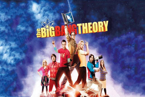 The Big Bang Theory 7 Silk Canvas Wall Poster Leonard Sheldon TV Series Show poster 16 - 32x48 inch (80x120cm)