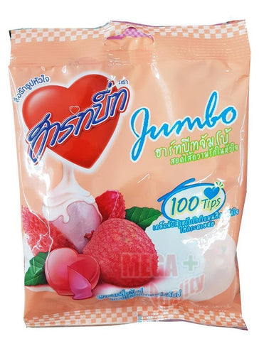 125g. Hart Beat Jumbo Lynchee Flavoured Candy Lychee Filling Center Mixed Fruit