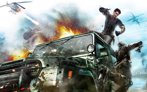 2010 Just Cause 2 Game Game Silk Wall Art Poster Print - 32x48 inch (80x120cm)