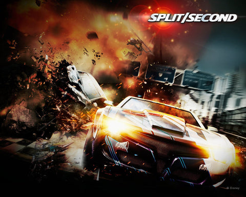 2010 Spilt Second Racing Game Game Silk Wall Art Poster Print - 13x20 inch (33x50cm)