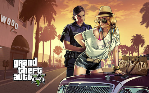 2013 Grand Theft Auto GTA V Game Silk Wall Art Poster Print - 13x20 inch (33x50cm)