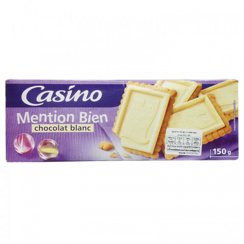 Casino Biscuits mention bien chocolate blanc 150 g