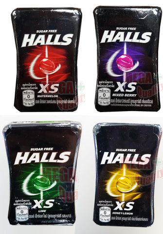 4 FLAVOURED HALLS XS SWEET COOLING TASTE SUGAR FREE CANDY CHEWY YUMMY MINT 15G