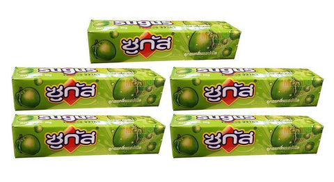 5 pack Sugus Apple Flavoured Chewy Sweet Candy Fruit Juice Fun Chewy 30g.