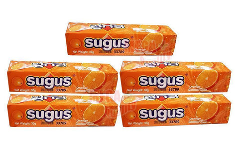 5 pack Sugus Orange Flavoured Chews Sweet Chew Candy Fruit Juice Fun Chewing 30g