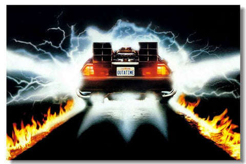 Back To The Future 1 2 3 Car  - 13x20 inch (33x50cm)