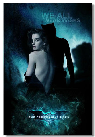 BatMan The Dark Knight Rises Movie TDK 2 3 Silk Wall Movie Poster Big Huge Prints Anne Cat Women (002) - 32x48 inch (80x120cm)