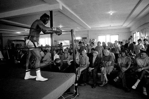 Ali Muhammad Boxer Art Silk Canvas Wall Poster Boxing Legend Printings 24 - 13x20 inch (33x50cm)
