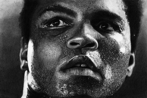 Ali Muhammad Boxer Art Silk Canvas Wall Poster Boxing Legend Printings 20 - 13x20 inch (33x50cm)