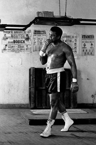 Ali Muhammad Boxer Art Silk Canvas Poster Large Printings 10 - 20x30 inch (50x75cm)
