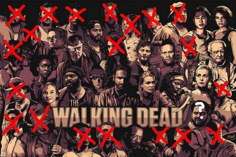 The Walking Dead Silk Wall Poster HD printings modern bedroom home decor movie TV Show series posters for wall 11 - 32x48 inch (80x120cm)