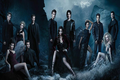 The Vampire Diaries TV Series Silk Canvas Wall Posters HD Large Modern Home Living Room Decor Movie Comic Music Posters 16 - 32x48 inch (80x120cm)