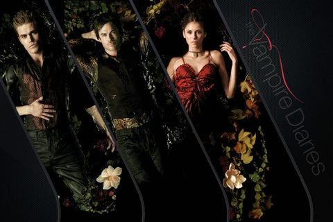 The Vampire Diaries TV Series Silk Canvas Wall Posters HD Large Modern Home Living Room Decor Movie Comic Music Posters 14 - 32x48 inch (80x120cm)