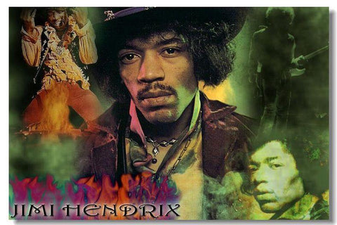 Jimi hendrix Silk Wall Poster HD Big printings modern bedroom home decor Classicalguitar music star psters for wall 10 - 32x48 inch (80x120cm)