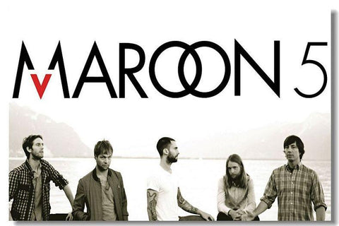 Maroon 5 Silk Wall Poster music Star decorations Poster for wall HD Large Modern Home bedroom decor Printings Adam Levine 23 - 32x48 inch (80x120cm)