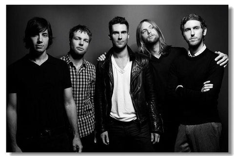 Maroon 5 Silk Wall Poster music Star decorations Poster for wall HD Large Modern Home bedroom decor Printings Adam Levine 19 - 32x48 inch (80x120cm)