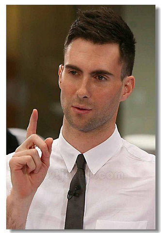 Maroon 5 Silk Wall Poster music Star decorations Poster for wall HD Large Modern Home bedroom decor Printings Adam Levine 02 - 32x48 inch (80x120cm)