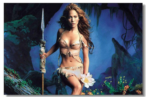 JENNIFER LOPEZ Silk Wall Poster POP Movi music Star decoration Posters for wall HD Large Modern Home bedroom decor 37 - 32x48 inch (80x120cm)