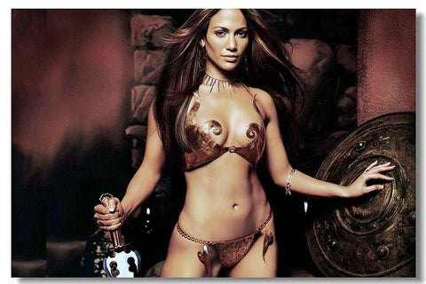 JENNIFER LOPEZ Silk Wall Poster POP Movi music Star decoration Posters for wall HD Large Modern Home bedroom decor 29 - 32x48 inch (80x120cm)