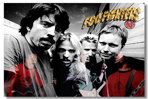 Foo Fighters Silk Wall Poster POP Movi music Star decoration Posters for wall HD Large Modern Home bedroom decor picture 09 - 32x48 inch (80x120cm)