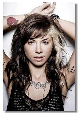 Christina Perri Silk Wall Poster POP music Star decoration Posters for wall HD Large Modern Home bedroom decor picture 05 - 32x48 inch (80x120cm)