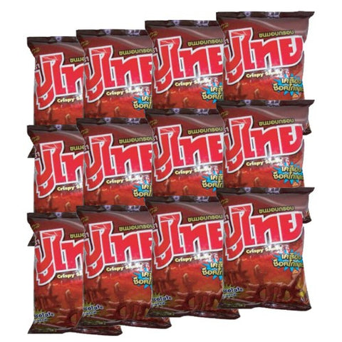 Poo Thai Fried Snacks Chocolate Flavour 14 g. Pack 12