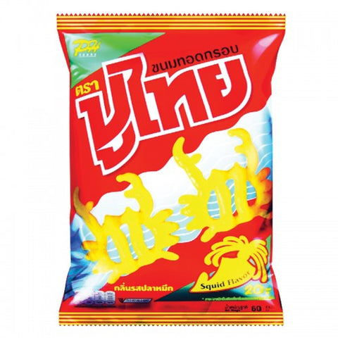 Poo Thai Fried Snacks Squid Flavor 60 g.