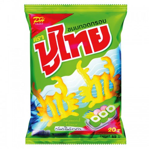 Poo Thai Fried Snacks  Nori Seaweed Flavor 60 g.