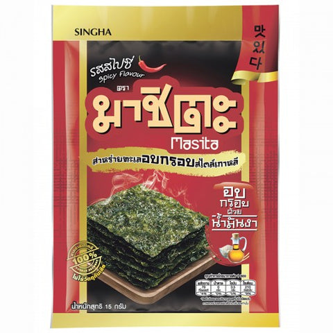 Masita Korean Style Roasted Seaweed Spicy Flavour Size 15 g.