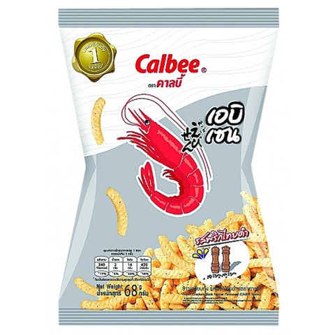 Calbee Prawn Crackers Black Pepper Flavour