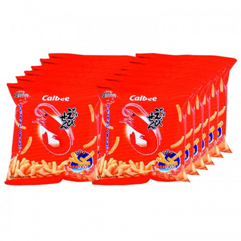 Calbee Prawn Cracker  Original Flavored 15 g. Pack 12