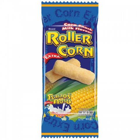Roller Corn Corn Snack Flavour Milk Blue Color 65 g.