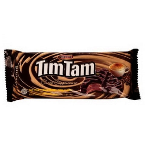 Arnott's Timtam Choco Cappuccino Flavoured Coated Biscuits Filled With Chocolate 120 g.