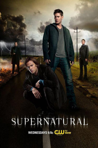 Supernatural TV Series Silk Canvas Wall Posters HD Large Modern Home Living Room Decor Movie Comic Music Posters Decroation 09 - 32x48 inch (80x120cm)