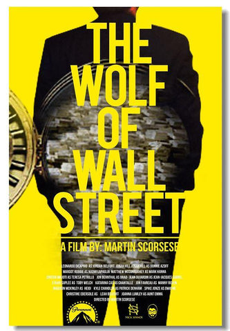 The Wolf of Wall Street Leonardo DiCaprio Silk Wall Poster Prints New (004) - 13x20 inch (33x50cm)