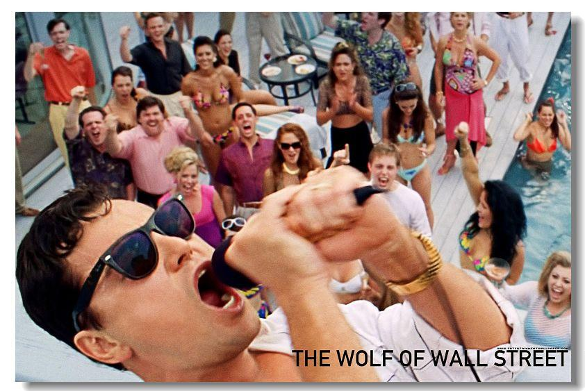 The Wolf of Wall Street Leonardo DiCaprio Silk Wall Poster Prints New (008) - 13x20 inch (33x50cm)
