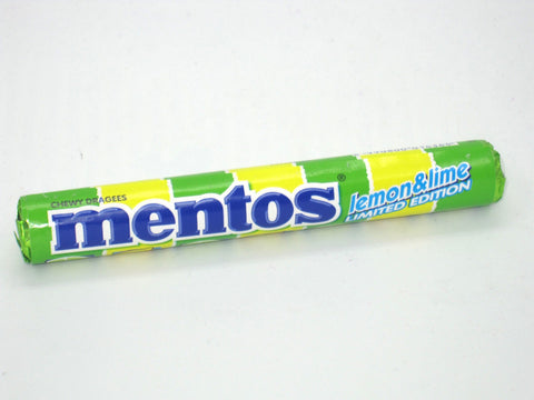 1 roll of MENTOS Chewy Dragees Candy - lemon & lime - limited edition