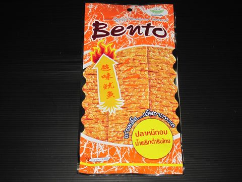 3 x 24g BENTO Seasoned Squid Seafood Snack - Thai Chili Flavor