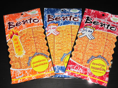 3 x 24g BENTO Seasoned Squid Seafood Snack - Mix Flavor