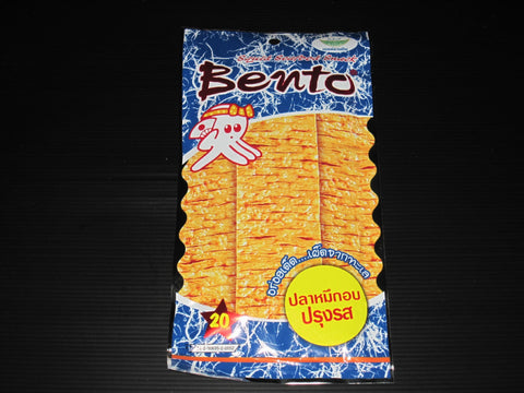 3 x 24g BENTO Seasoned Squid Seafood Snack - Hot & Spicy Flavor